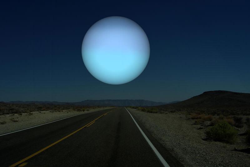 地球から見た天王星