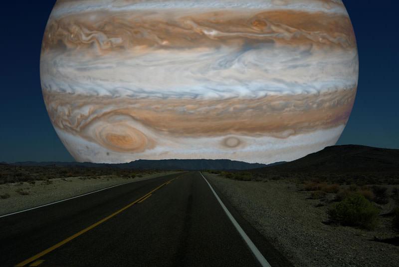 地球から見た木星