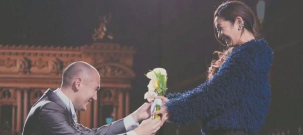 世界一「最先端」で感動的なサプライズプロポーズ