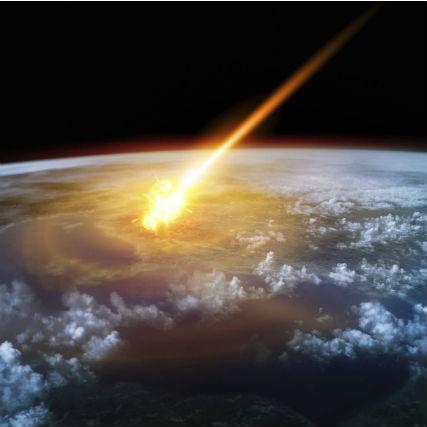 隕石にぶつかり