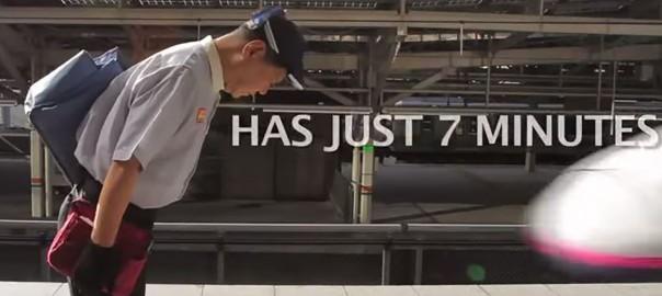 7分の奇跡!速さも質も世界に誇れる新幹線の清掃チーム