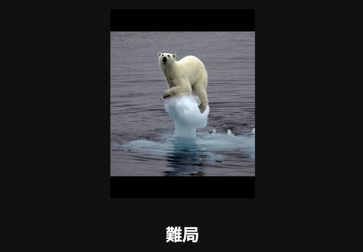 流氷の上にホッキョクグマ アメーバ大喜利