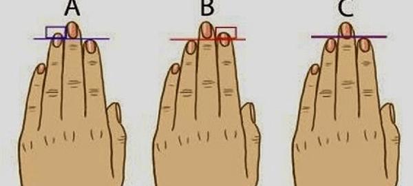 【性格診断】あなたの指の長さで性格がわかる