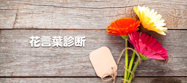 【花言葉診断】あなたに相応しい花を捧げます。