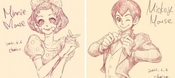 ディズニーキャラが人間に?!日本人イラストレーターの作品にワクワクする!(画像31枚)
