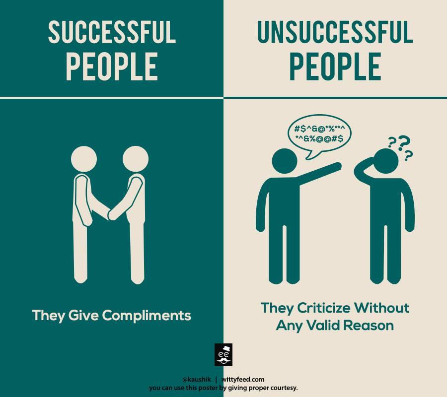 成功する人と失敗する人の違いを表したイラスト