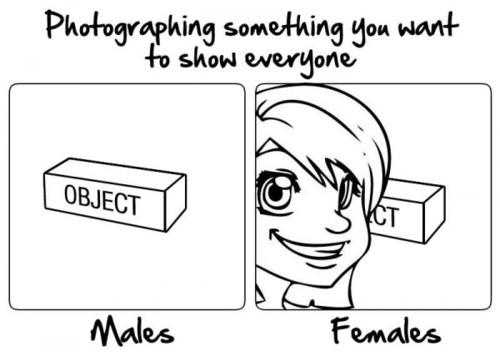 男女で違う写真の撮り方