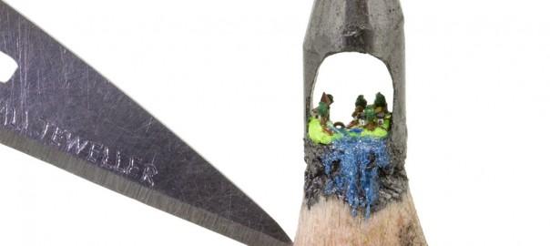 【ペン先アート】鉛筆の芯を彫って作る「小さな世界」に驚きが止まらない(画像8枚)
