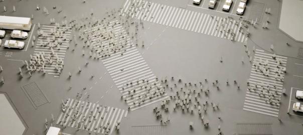 1000体の模型!渋谷のスクランブル交差点を紙の模型で再現した動画がスゴい