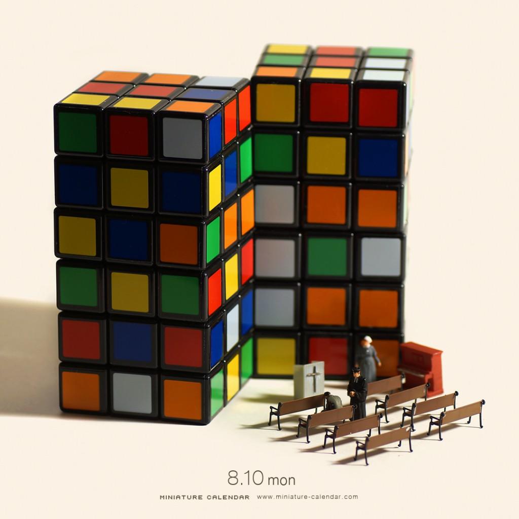 ルービックキューブのミニチュア