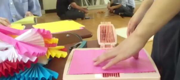 あなたは使ってた?懐かしの「あの紙で作る花」を3秒で作るハイテク装置が話題に
