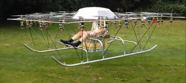 【空に憧れて】プロペラが54個もあるドローンで有人飛行に挑戦する男