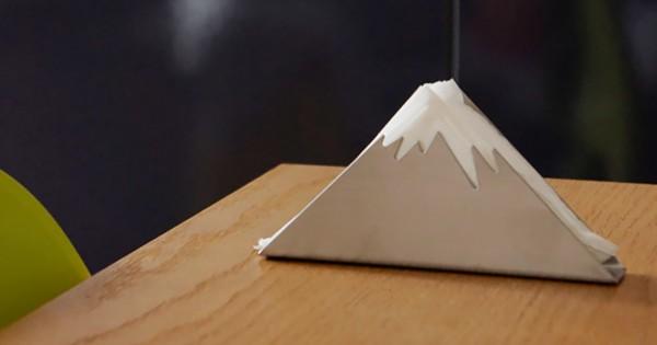 日本一の山を食卓に!富士山の形をしたオシャレなペーパーホルダー