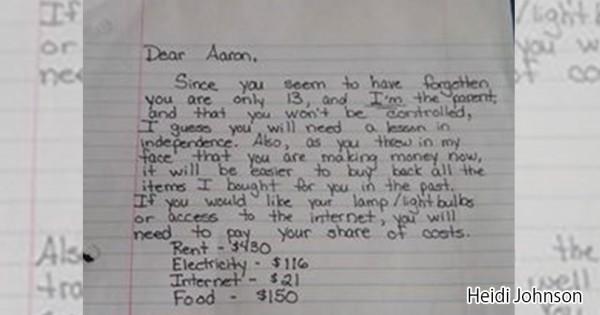 「月8万円払いなさい」シングルマザーが13歳の息子にあてた厳しい手紙の意図とは