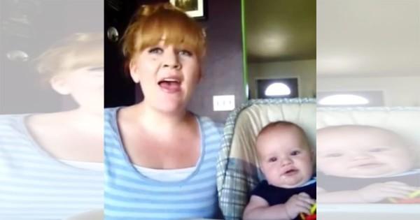 こんなお母さん最高!赤ちゃんのために「ハレルヤ」を歌うその歌唱力がスゴすぎる