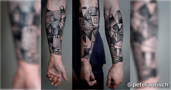 【体に彫るアート】ピカソのキュビスムをモチーフにしたタトゥーが芸術的