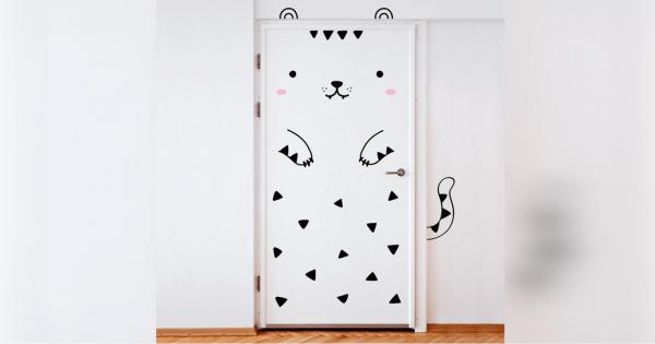 【部屋にいるのが楽しくなる】ドアを超キュートにカスタマイズできるシール