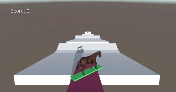 【目的は謎】馬がスノボしてトリックを決めるだけのゲームがシュールすぎる