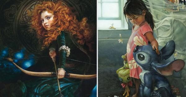ディズニーキャラが中世の絵画に?タイムスリップしたような絵に心奪われる(画像7枚)