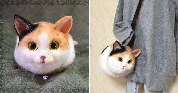 日本中の猫好き集まれ〜!超リアルな「三毛猫ボストンバッグ」が大人気