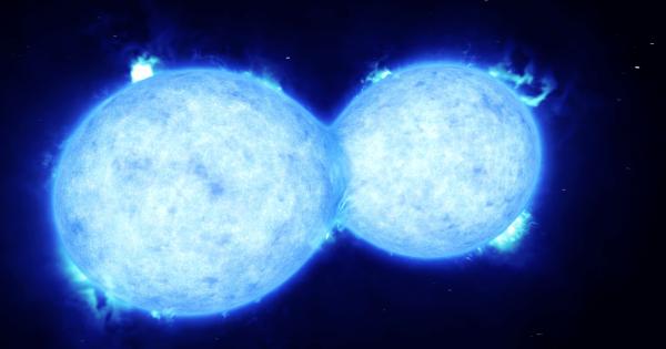 【星同士をつなぐ橋】お互いに重なり合う2つの星が観測される