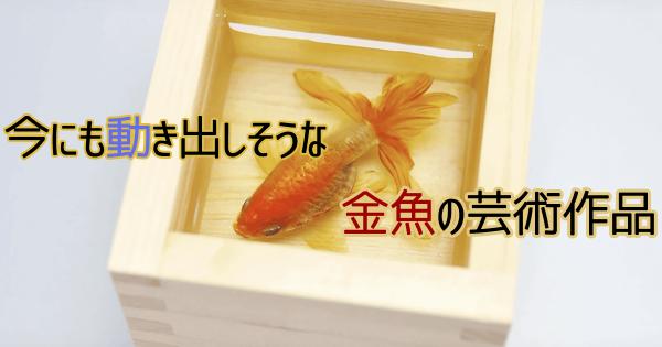 世界が驚嘆!今にも動き出しそうな「金魚」の美術作品に心を奪われる