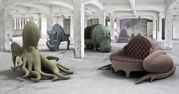 【まるで本物】スペインの芸術家が作った生き物をモチーフにしたイス