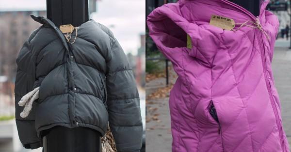 「落し物じゃありません」電信柱に服を着せる子供たち。その理由に涙する