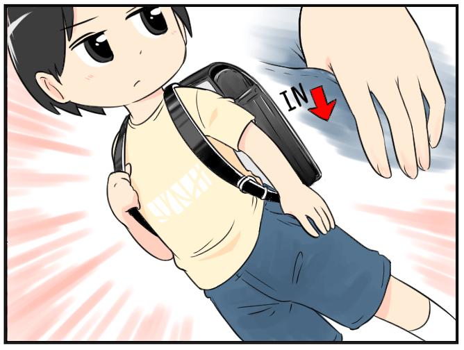08.ズボンのポケットに親指だけ (1)