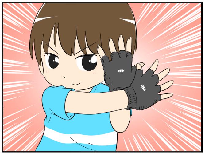 01.指が出る手袋 (1)