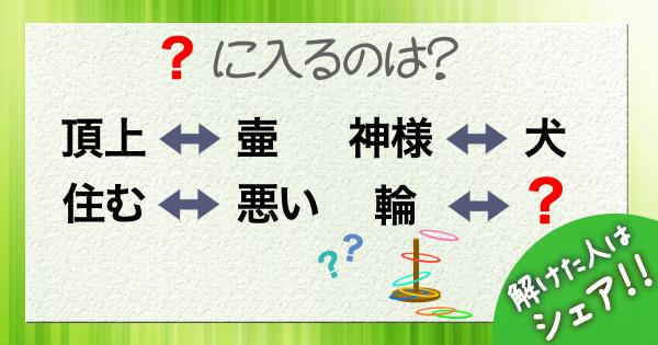 Q.「?」に入る言葉は?