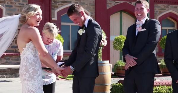 忘れられない結婚式!(笑) 誓いの言葉の最中に男の子が放った一言に爆笑