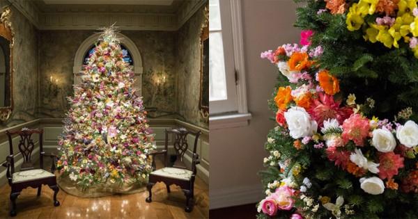 クリスマスツリーを花で飾ると、めちゃ上品&おしゃれになる