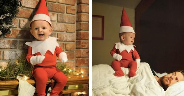 こんな妖精いたらいいのに!4ヶ月の赤ちゃんに合成写真で魔法をかけた父親がスゴい