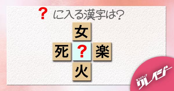Q.「?」に入る漢字は?