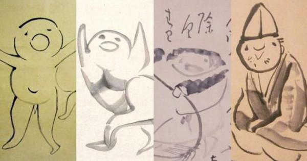 可愛いすぎて病みつきだ!江戸時代の絵師 仙厓義梵のゆるふわ日本画コレクション