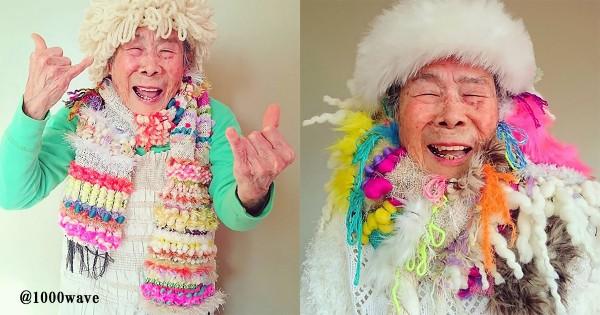 93歳だけど青春真っ只中!孫の織物を着こなす「おばあちゃんモデル」が海外で話題