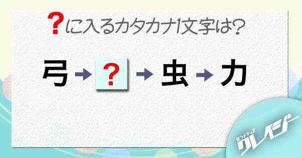 Q.「?」に入るカタカタ1文字は?