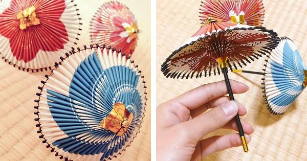 【心が温まるノスタルジー】おばあちゃんがタバコの箱で作った傘がめちゃ可愛い!
