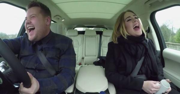 贅沢過ぎるカラオケドライブ!世界の歌姫アデルが車内で生歌を披露