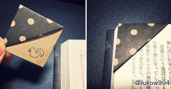 コレは作ってみたい! 折り紙で作ったしおりの実用性が高すぎると話題に