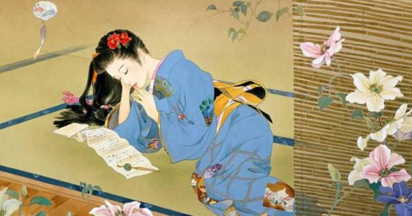 この着物美人画、顔・振る舞い・スタイル全てパーフェクト!現代の浮世絵ともいえる日本画作品