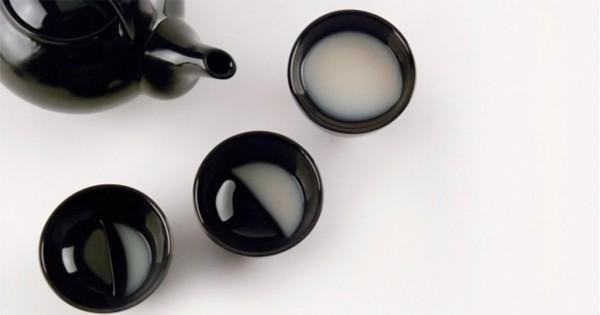 十五夜のお月見で使いたい!月の満ち欠けがモチーフの素敵な盃「Moon glass – 酒月」