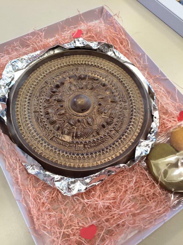 銅鏡チョコ2