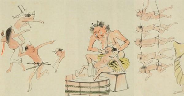 ゆるゆるすぎるwww 明治時代に描かれた「地獄絵巻」のキュートすぎる世界観