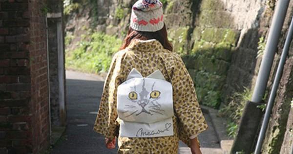 可愛すぎるぞ!猫ちゃんを着物の帯のお太鼓にがっつりあしらった「I love cat帯」