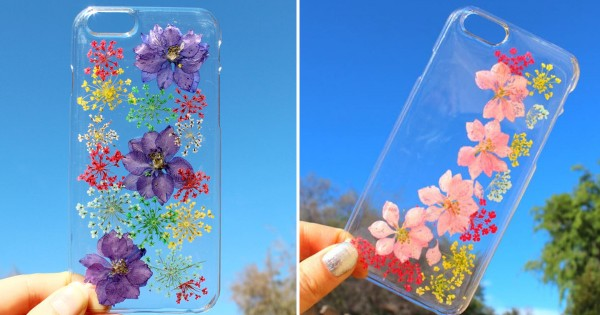 何コレ超きれい! 色鮮やかな「押し花スマホケース」に春を感じる