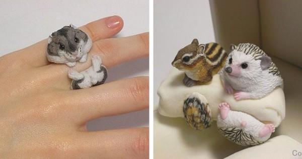 これでどこでも一緒♪ 動物好きの必須アイテム「アニマル指輪」が最高にかわいい