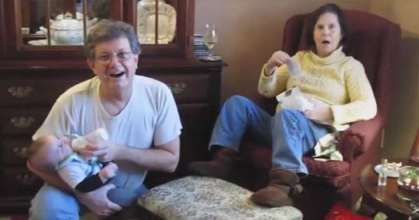 嬉しすぎて硬直!娘から妊娠をサプライズ報告されたおばあちゃんの反応が衝撃的