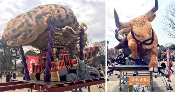 日本の学生は将来有望! 芸大生が本気を出して作った神輿が迫力満点
